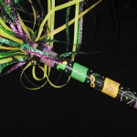 14-inch Mardi Gras Pom Pom FETTI Tube